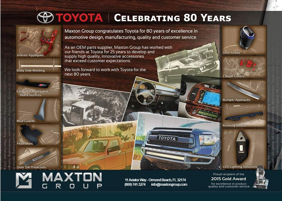 Toyota celebrates 80 years of excellence!
